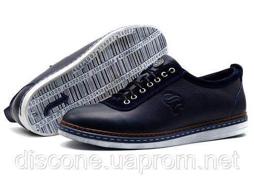 Туфли Samas Barcode, мужские, натуральная кожа, синие, р.44