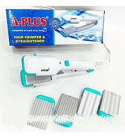 Выпрямитель для волос ( щипцы ) с насадками гофре A-Plus HS 1534