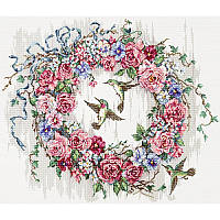 Набор для вышивания крестом Letistitch LETI 990 Венок с колибри, Hummingbird Wreath