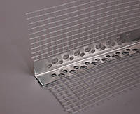 Уголок алюминиевый перфорированный со стеклосеткой (2,5 м, 3м)