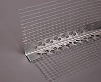 Уголок алюминиевый перфорированный со стеклосеткой (2,5 м, 3м), фото 1