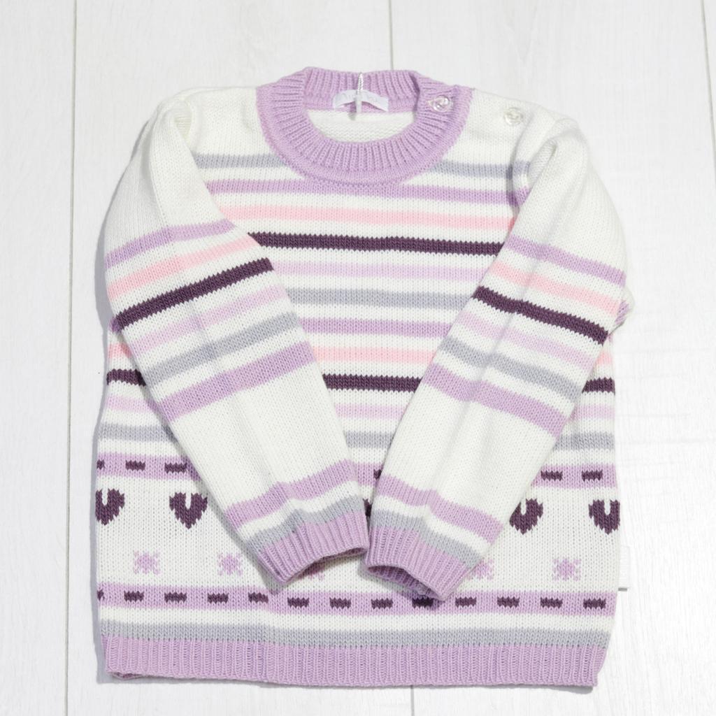 Детский свитер для девочки, круглая горловина, ТМ Лютик (размер 92)