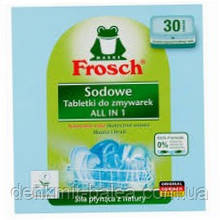 Таблетки для посудомийних машин Натуральна Сода Все в Одному Frosch Sodowe All - in-One 30 шт