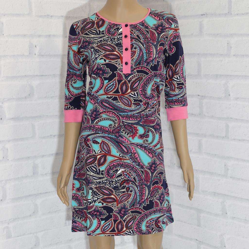 Платье женское, рукав 4,  х/б,.Nicoletta  (размер L)