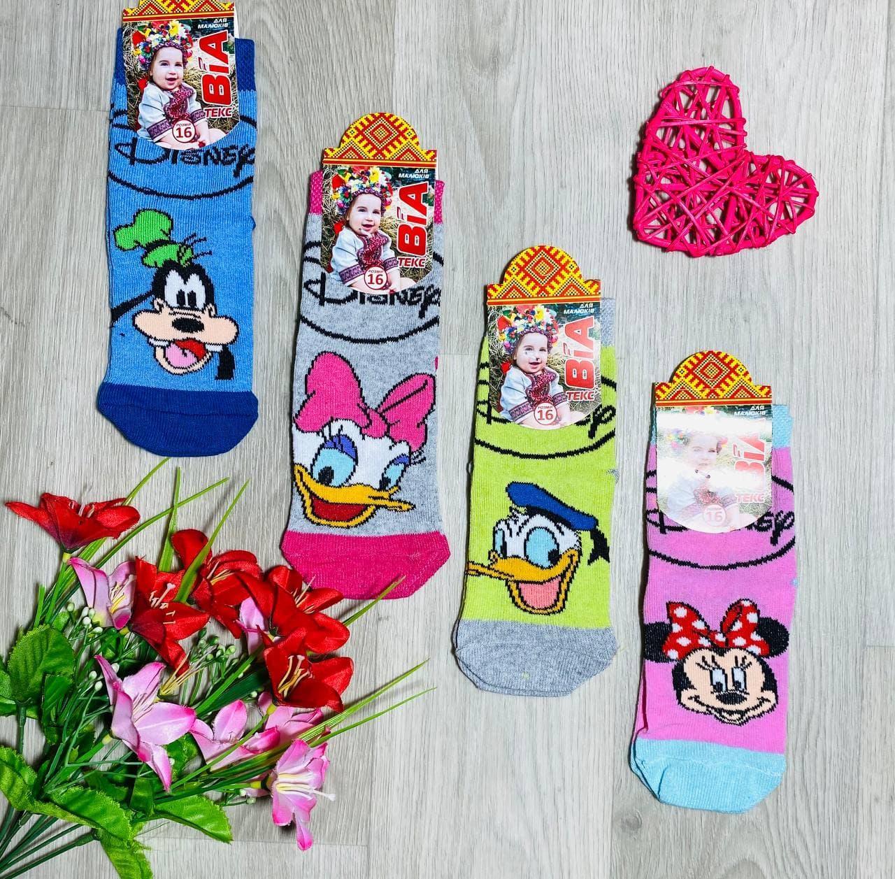 Шкарпетки дитячі демісезонні з бавовни унісекс ВиАтекс розмір 16(26-28) асорті