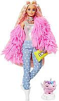 Лялька Barbie Extra в рожевому пухнастому жакеті (GRN28) від Mattel, фото 1