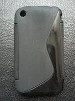 Стильный черный силиконовый чехол для Iphone 3