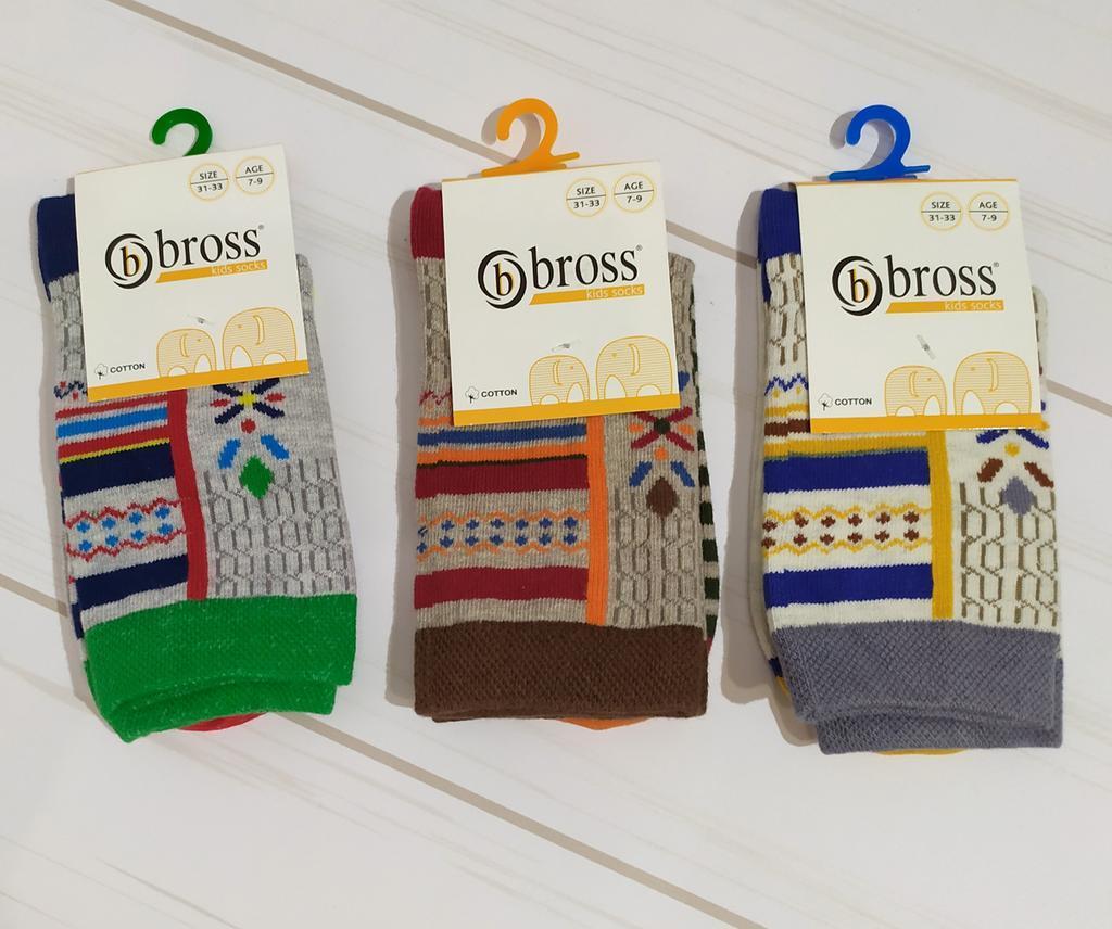 Носки для мальчика высокие демисезонные с рисунком Bross (размер 7-9лет.)