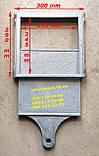Засувка чавунна заслінка грубна (300х300 мм) печі, барбекю, мангал, фото 2