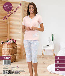 Комплект летний женский (футболка короткий рукав+бриджи), BellaSecret  (размер S)