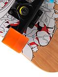 Скейт дерев'яний 823 наждак з PU колесами 60 мм Череп | скейтборд трюкової з канадського клена до 80 кг, фото 5