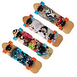 Скейт дерев'яний 823 наждак з PU колесами 60 мм Череп | скейтборд трюкової з канадського клена до 80 кг, фото 6