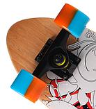 Скейт дерев'яний 823 наждак з PU колесами 60 мм Череп | скейтборд трюкової з канадського клена до 80 кг, фото 4