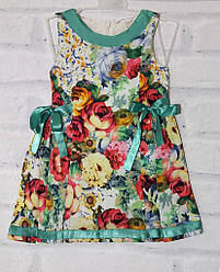 Платье детское нарядное для девочки с коротким рукавом, Baby Pink (размер 98)