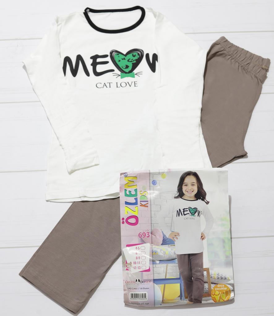 Дитяча піжама для дівчинки демісезонна, з довгим рукавом,.Оzlem Donex