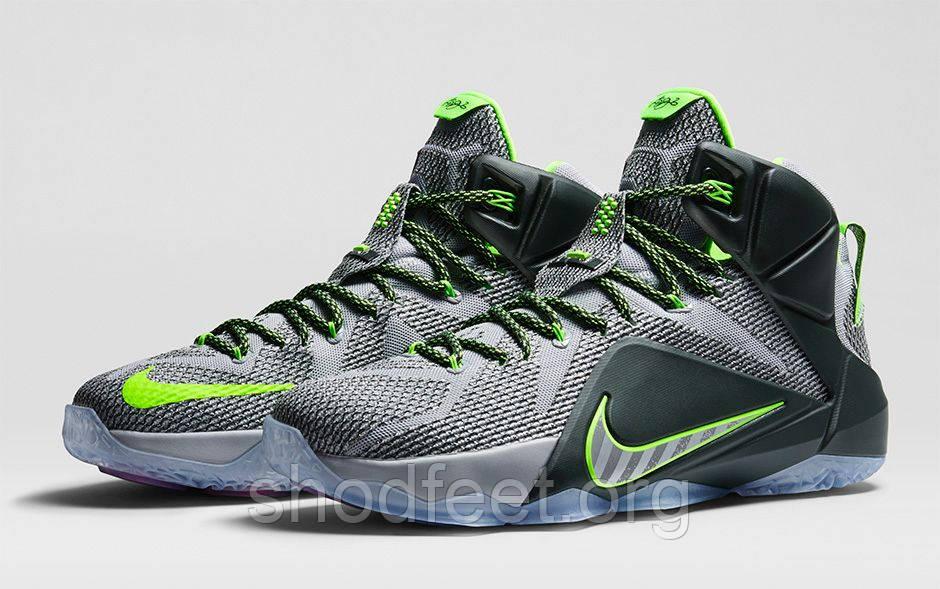 Nike Lebron 12 Grey/Black/Green