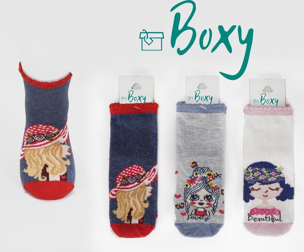 Носки для девочки демисезонные,  Boxy (размер 11-12лет.)