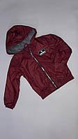 Демісезонна Куртка дитяча на флісі з капюшоном під гумку Fortnite 6-10 років, бордового кольору
