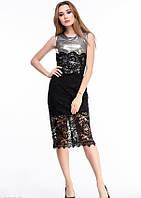 Платья ISSA PLUS 4330 M черный/серый