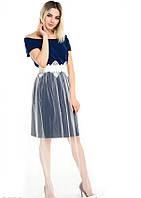 Платья ISSA PLUS 5038 S синий