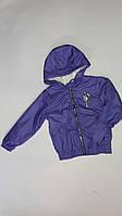 Демісезонна Куртка дитяча для дівчинки на флісі з капюшоном під гумку Billie Eilish 6-10 років, гірчична