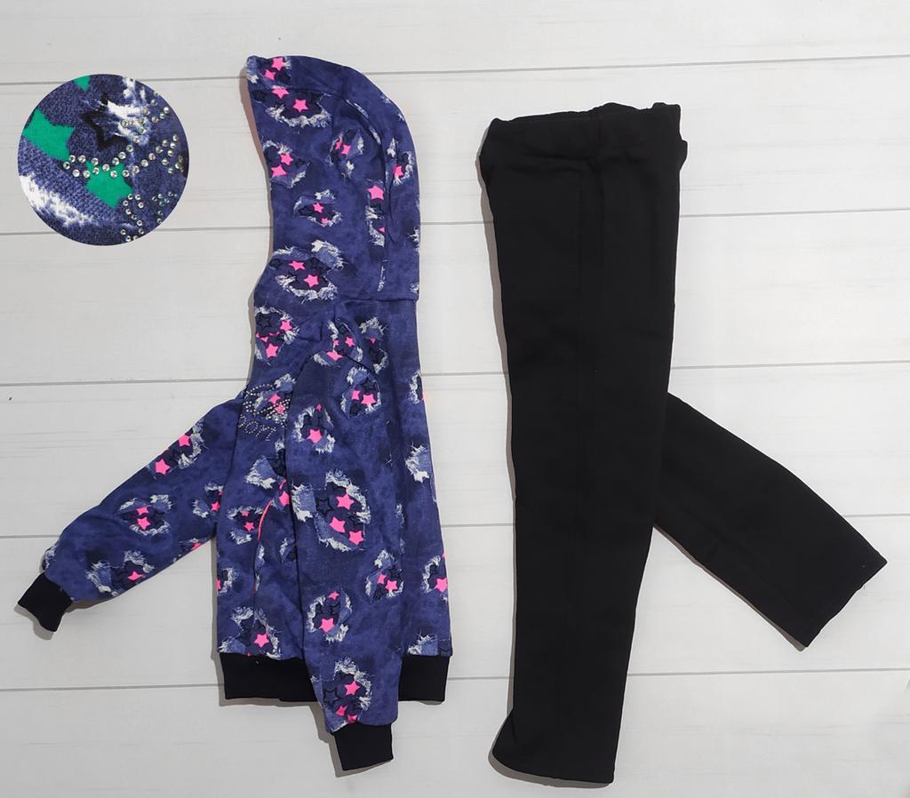 Спортивный утепленный костюм для девочки (размер 104)