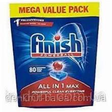 Таблетки для посудомийних машин Фініш Все в одному Finish All in one Max 80 шт.