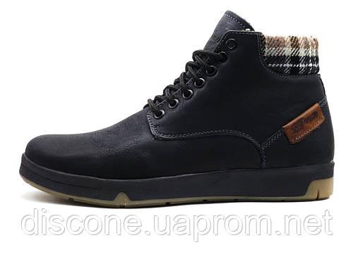 Ботинки StepWey Slide, мужские, натуральная кожа, на меху, черные