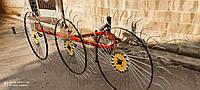Граблі ворушилки Сонечко на 3 колеса (спиця 6 мм) для мінітрактора (3Т)