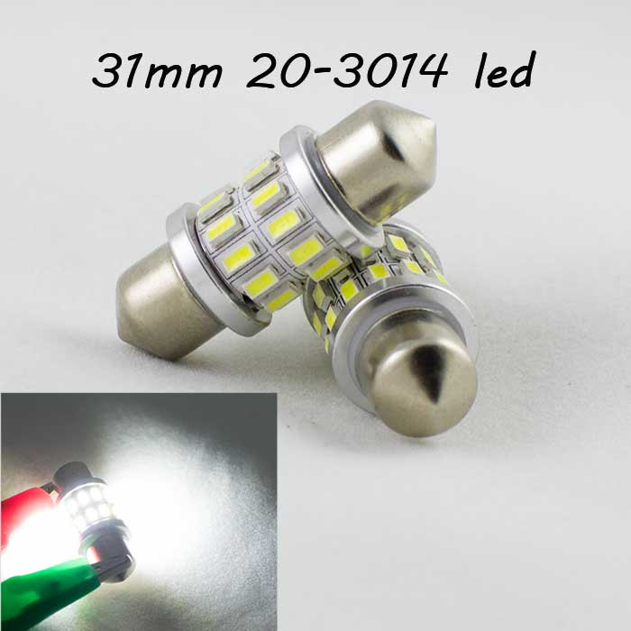 Светодиодная лампа SLS LED в салон и номера со встроенным CAN BUS SV8,5(C5W) 31mm 24-3014 Белый