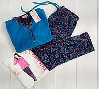 Комплект женской домашней одежды, велюровый (кофта+штаны) VS Турция (размер M)