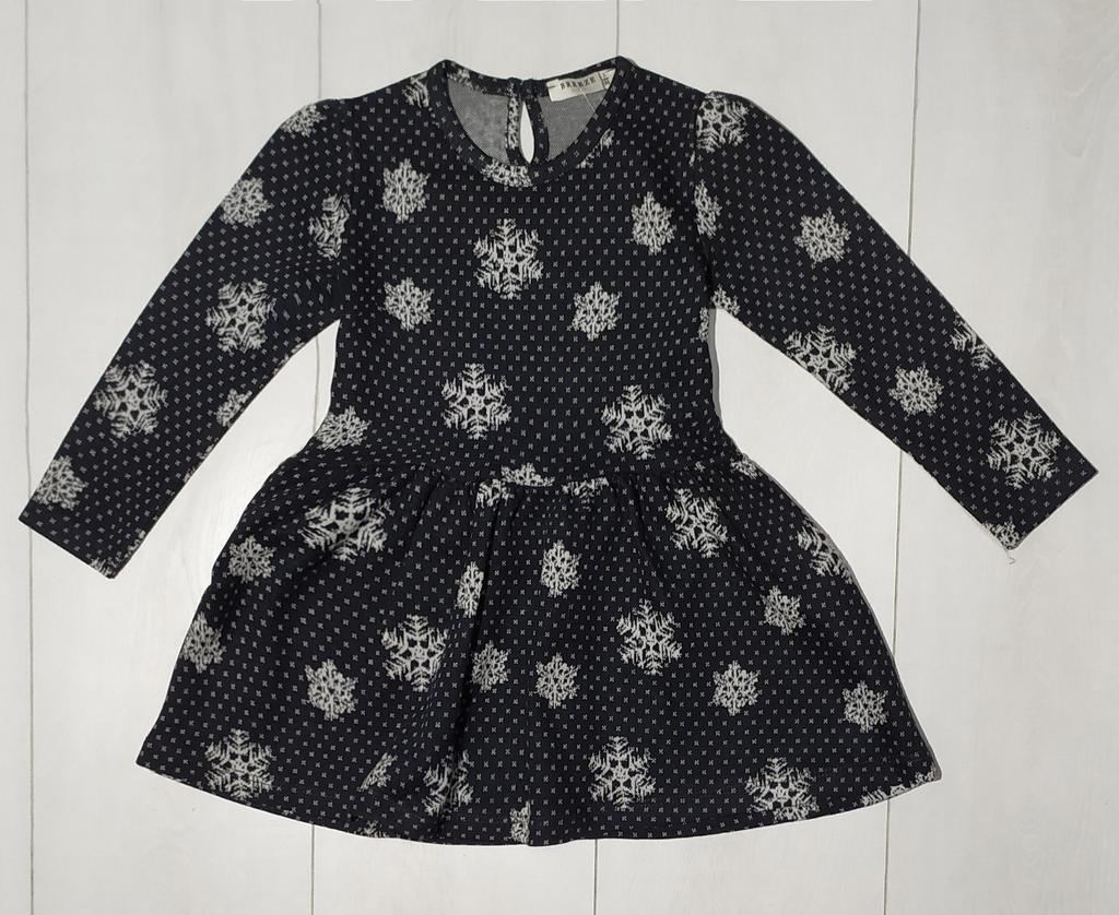 Платье для девочки, длинный рукав (Снежинка), Breeze (размер 104)