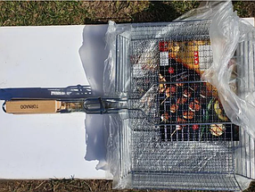 Сетка гриль для мангала 25x25x55cm, фото 3