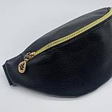 """Женская классическая бананка поясная сумка детская """"ЛЕПЕСТОК"""" черная, фото 4"""