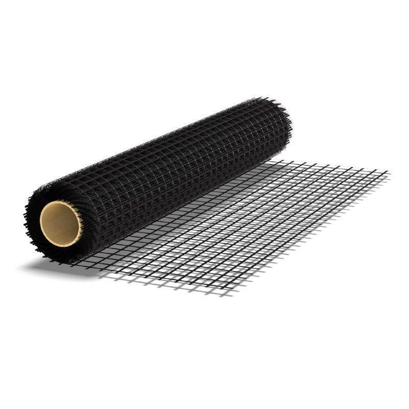Кладочная строительная базальтовая сетка для армирования каменной кладки, штукатурки, стяжки (Рулон - 50 м.кв)