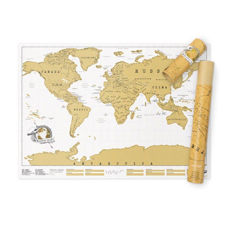 Скретч карта мира на английском языке 82,5x59,4 см. Великобритания 115561