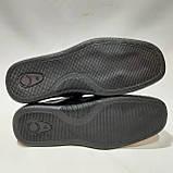 Чоловічі шкіряні туфлі літні, Walker прошиті перфорація на липучці чорні, фото 8