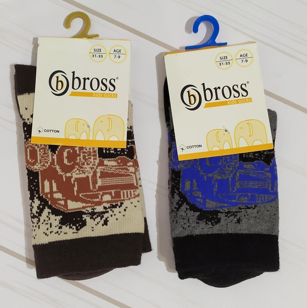 Шкарпетки для хлопчика високі чоботи з малюнком Bross