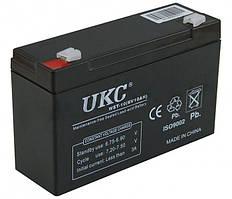 Универсальный аккумулятор UKC 6V 10Ah WST-10