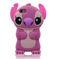 """Пластмассовый розовый чехол """"Ститч"""" для Iphone 5/5s"""