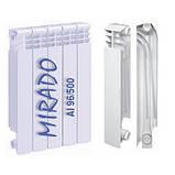 Радіатор біметалевий Mirado 500/96 1 секція, фото 2