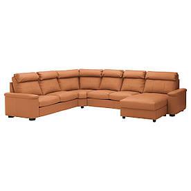 IKEA Диван кожаный LIDHULT (ИКЕА ЛИДГУЛЬТ) (092.572.65)