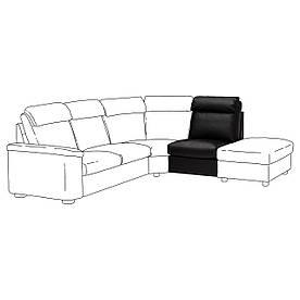 IKEA Секція 1-місцева зі спинкою LIDHULT (ІКЕА ЛИДГУЛЬТ) 80404059
