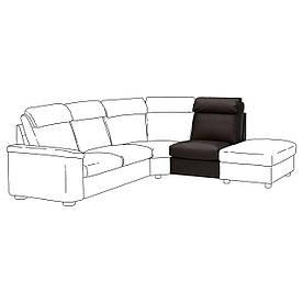 IKEA Секція 1-місцева зі спинкою LIDHULT (ІКЕА ЛИДГУЛЬТ) 00404015