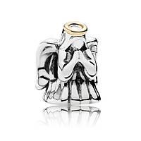 Шарм «Чудесный ангел» из серебра 925 пробы с золотом 585 пробы Пандора (Pandora)