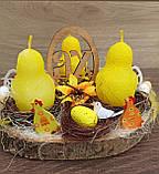 Пасхальна, великодня композиція з курчатами зі свічками на стіл., фото 7