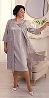 Вечернее серебряное платье с напылением 56, 58, 60, 62