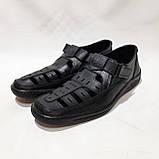 Мужские кожаные туфли р. 46 Walker (Большие размеры) Черные, фото 4