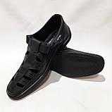 Мужские кожаные туфли р. 46 Walker (Большие размеры) Черные, фото 2