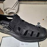 Мужские кожаные туфли р. 46 Walker (Большие размеры) Черные, фото 9